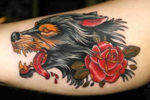 Волк с розой