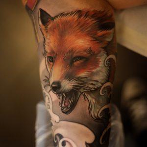 Выбор стиля для татуировки лисы