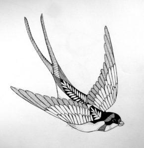 Значение татуировки ласточка