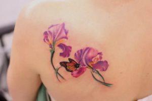 Татуировка орхидея