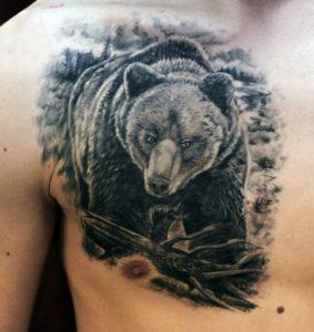 Что значит татуировка медведь
