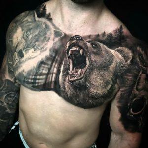 Что значит тату медведя?