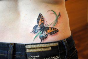 Что означает тату бабочка и на какую часть тела ее «посадить»